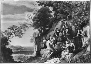 Apollo en de Muzen op de Parnassus