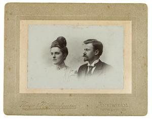 Portret van Hendrik Freyer (1876-1955) en Johanna Kouwenaar (1880-1950)