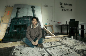 Marc Bijl in zijn atelier