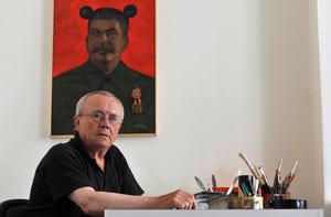 Portret van Gerrit van Dijk in zijn atelier