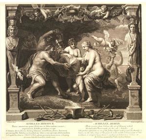 Thetis ontvangt van Hephaestus wapenuitrusting voor Achilles