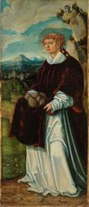 Heilige Stephanus (achterzijde: rankenornament)