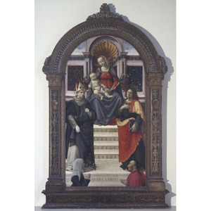 Maria met kind en de H. Lodewijk van Toulouse en Johannes de Evangelist