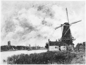 Molen in de buurt van Dordrecht