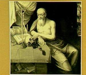 De H. Hiëronymus mediterend in zijn studeercel