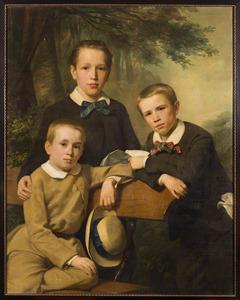 Portret van de broers Samuel (1846-1917), Margarethus (1850-1890) en Leonard (1851-1942) Snellen van Vollenhoven