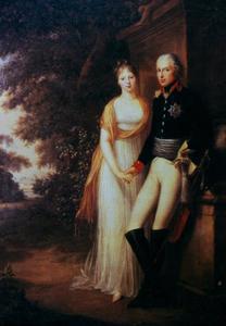 Portret van Friedrich Wilhelm III van Pruisen (1770-1840) en Louise van Mecklenburg-Strelitz (1776-1810)