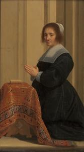 Portret van Wilhelmine Bezoete Tristram