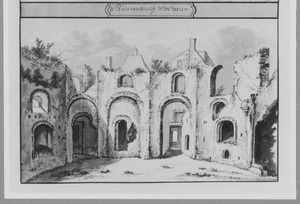 Ruïne van de witte toren van kasteel Culemborg