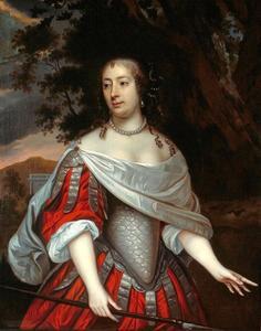 Portret van Geertruid Huydecoper (1634-1669) als jaagster