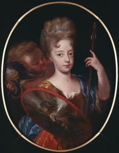 Portret van Henriëtte Casimira van Nassau-Dietz (1696-1738) als Minerva