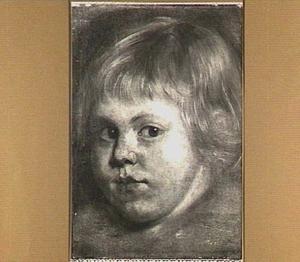 Portret van Sir Jeffrey Hudson (1619-1680), dwerg aan het hof van Portret van Henriëtta Maria de Bourbon (1609-1669), koningin van Engeland