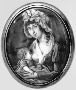 Portret van Geertruij van Claveren (1768-1823) en Wilhelmus Gijsbertus Anthonius Gijsbertus van den Berg (1794-....)