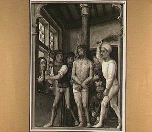 De geseling van Christus (detail van het middenpaneel)