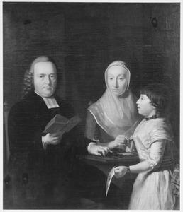 Portret van Albertus Snethlage (1727-1796), Magdalena Sas (1742-1798) en Anna Gijsberta Snethlage (1782-)