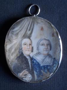 Portret van Andries Vis (?-?) en Elisabeth Mensma (1716-?)