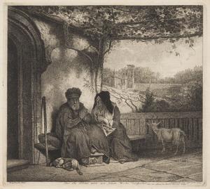 De oude Tobit denkt dat Anna het geitebokje gestolen heeft (Tobias 2-3)