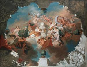 De verheerlijking van Friedrich I koning van Pruisen als Prins van Oranje
