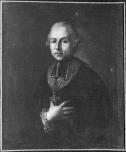 Portret van een man met de Orde van Gregorius de Grote, mogelijk Ambrosius Schmising (1730-?), regent van het Grootseminarie te Roermond
