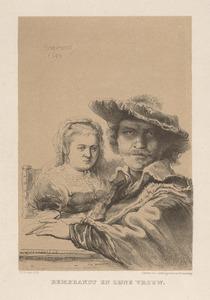 Rembrandt en zijne vrouw