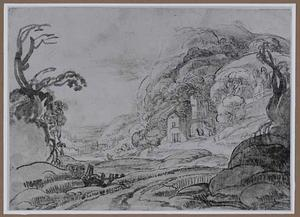 Italianiserend landschap met ruines