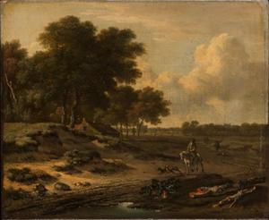 Landschap met ruiter