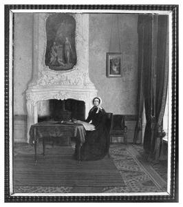 Portret van Johanna Maria de Gijselaar (1787-1851) in de rechtervoorkamer van Rapenburg 65 te Leiden