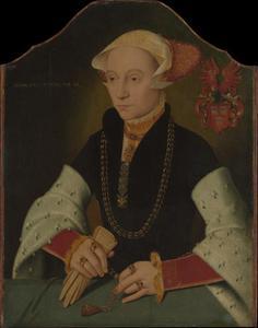 Portret van een vrouw van de Slosgin familie van Keulen
