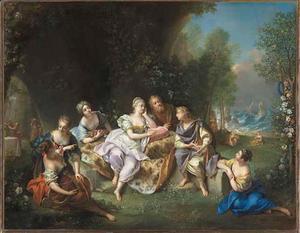 Telemachus vertelt zijn avonturen aan Calypso