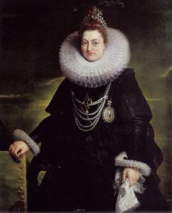Portret van Isabella Clara Eugenia von Habsburg, infanta van Spanje (1566-1633)