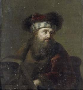 Een man in oriëntaals kostuum