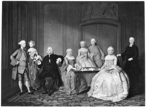 Portret van de familie van Hendrik Momma (1709-1783) en Hillegonda Duyff (1713-1778)