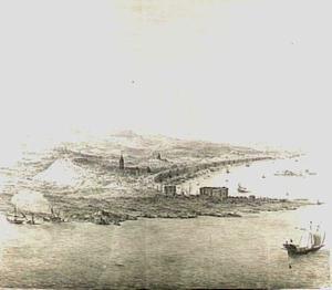 Messina vanuit het zuidoosten