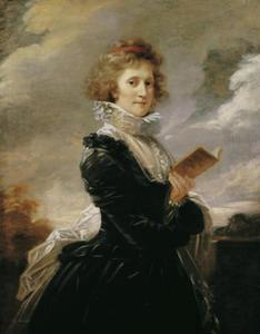 Portret van de toneelspeelster Josefa Hortensia Füger, echtgenote van de kunstenaar