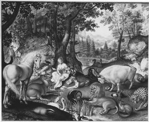 Orfeus betovert de dieren met zijn muziek (Metamorfosen 10:86-105)