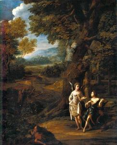 De engel wijst Hagar de bron in de wildernis  (Genesis 21: 17-21)