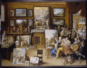 Pictura, Poesis en Musica in een kunstkabinet