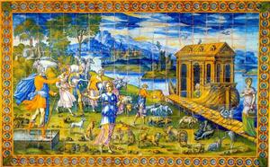Inscheping in de ark van Noach