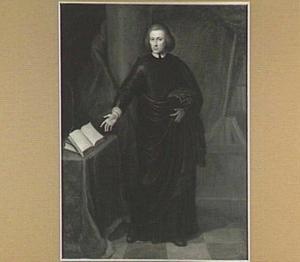 Portret van een dominee, staande ten voeten uit