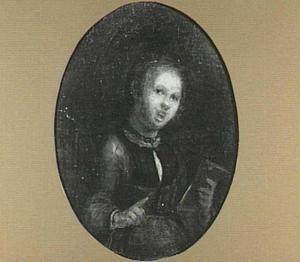 Zingende jonge vrouw; een allegorie van het Gehoor