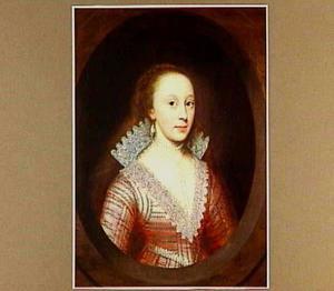 Portret van Susan de Vere, Countess of Montgomery (1587- 628/29), echtgenote van Philip, 4th Earl of Pembroke