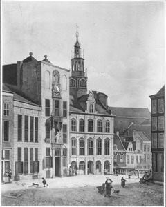 De stadhuisbrug met omgeving te Utrecht