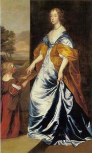 Portret van Mary Villiers, Lady Herbert, later Duchess of Lennox and Richmond (1622-1685) met haar bediende, Anne Sheppard, Mrs. Gibson (?-?)