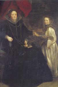 Portret van Porzia Imperiale (?-?) en haar dochter Maria Francesca (?-?)