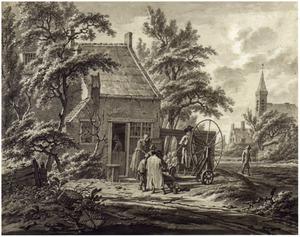 Scharensliep voor een huis aan een dorpsweg