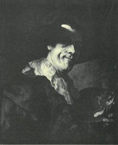 Zelfportret van Christian Seybold (1695-1768)