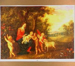 Maria met het Kind, Johannes de Doper als kind en