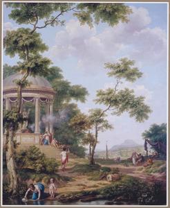 Zuidelijk landschap met een offerplaats