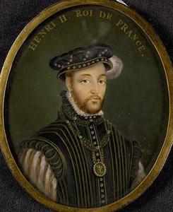 Portret van Henri II koning van Franrijk (1518-1559)