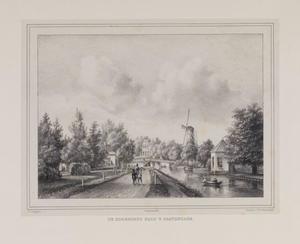 Gezicht op de Hoornbrug te Rijswijk vanaf een landweg